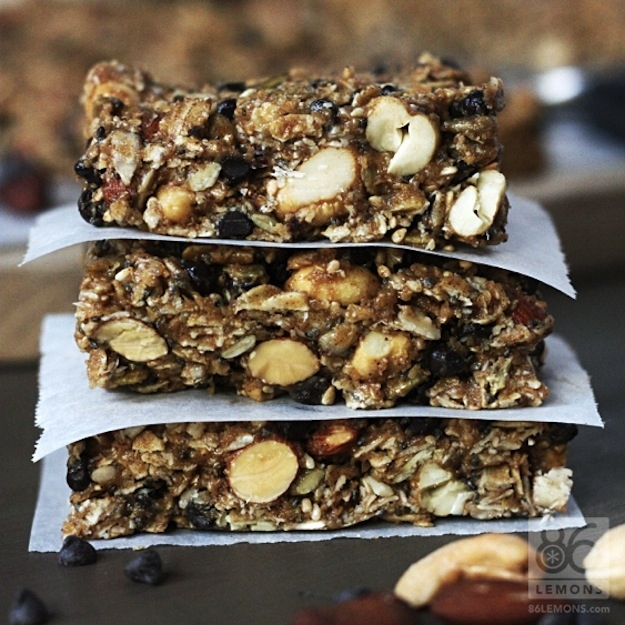 25. Friday Breakfast: Chocolate Peanut Butter Breakfast Bars