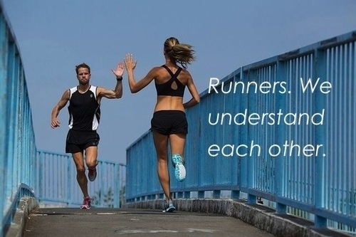 But you know that you don't need to be fast to be a runner.