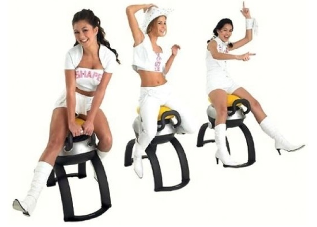 1.) iGallop - Strengthen your core muscles while riding this horse-less horse. Yeehaw!