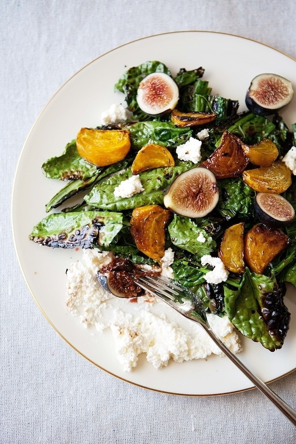 Grilled Kale Salad with Beets, Figs, and Ricotta