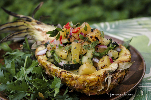 Grilled Pineapple and Cucumber Salad
