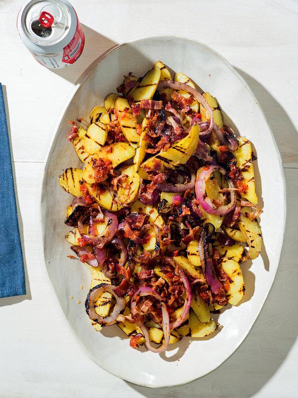 Grilled Fingerling Potato Salad