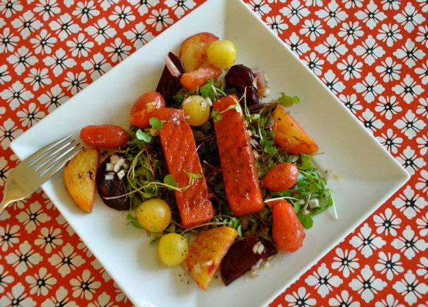 Grilled Watermelon Salad with Charred Beets and Tomatoes