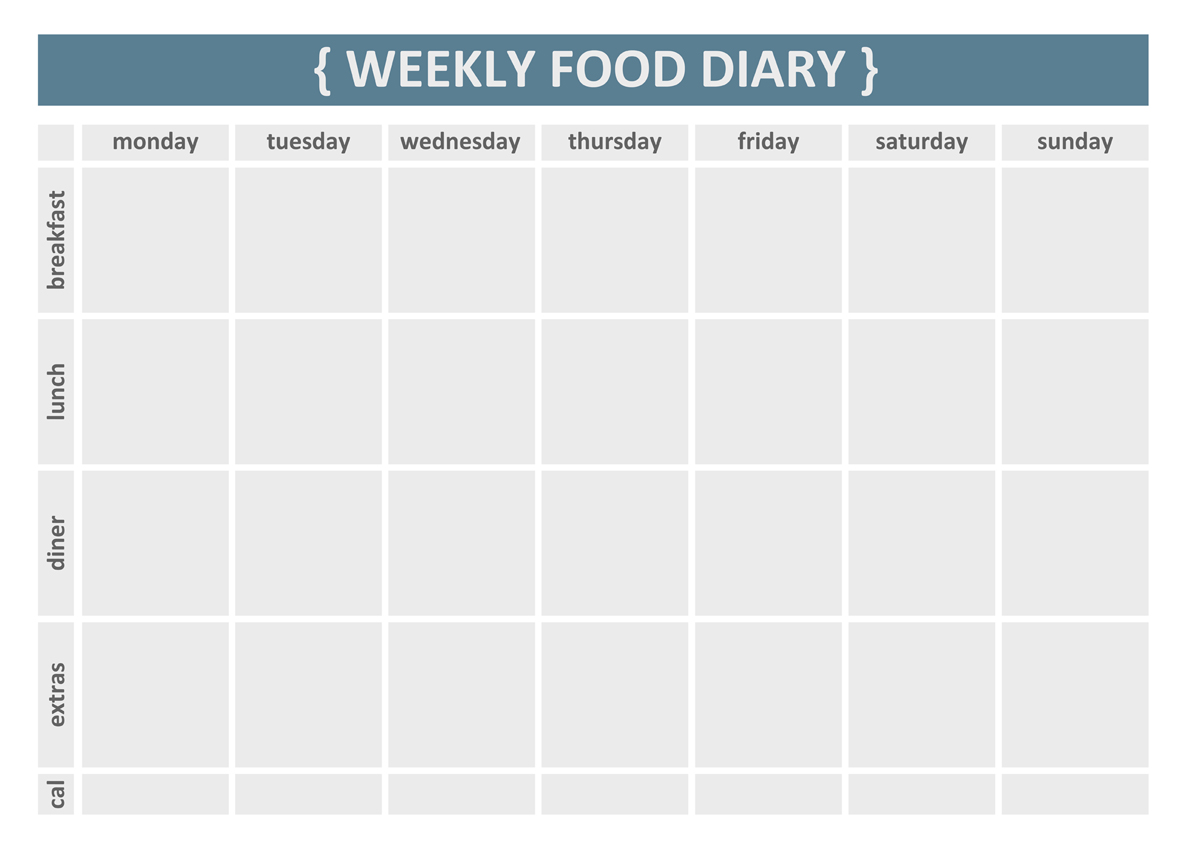 simple weekly exercise log