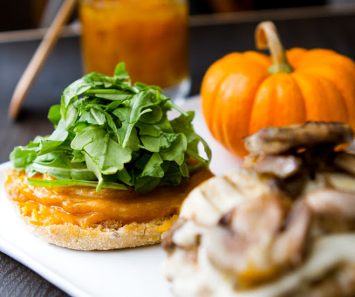 Pumpkin Breakfast Sandwich