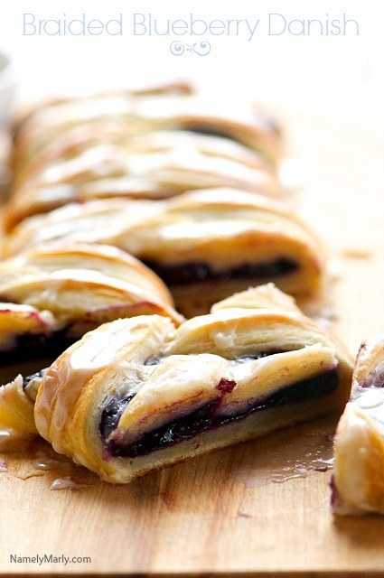 Vegan Braided Blueberry Danish