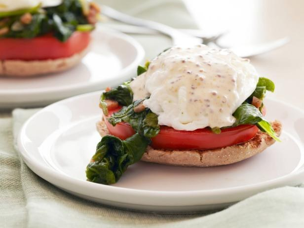 Kale and Tomato Eggs Benedict