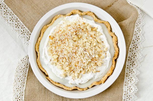 Vegan Coconut Chocolate Cream Pie