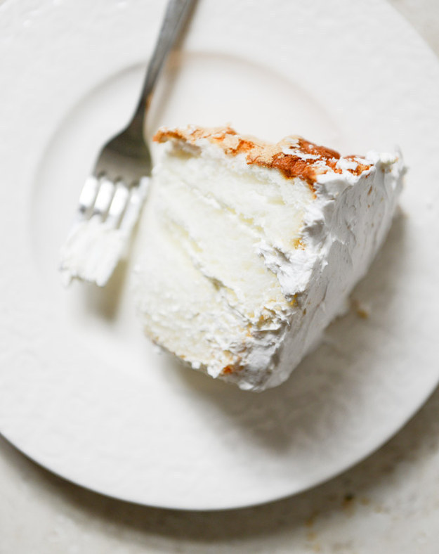 Angel Food Layer Cake with Whipped Coconut Cream and Grapefruit Syrup