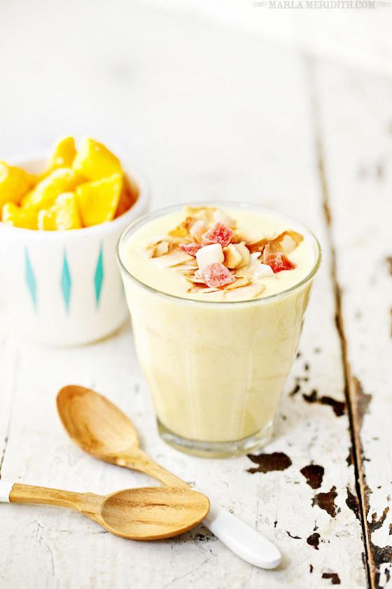 Tropical Coconut-Mango Smoothie