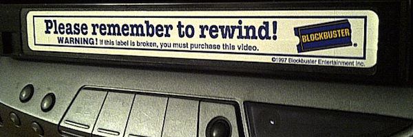 Pop that video into your VCR. Hit play and... HEY! They forgot to rewind!